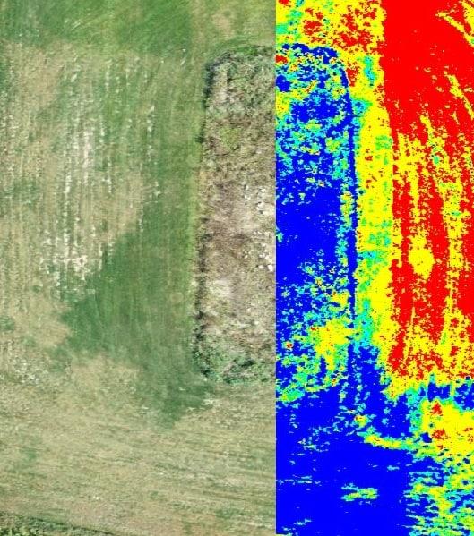 Définition de stress sur la gazonnière - multispectrale